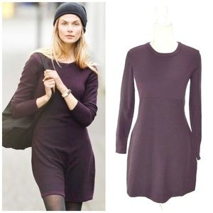ATHLETA Cottonwood Long Sleeve Sweater Dress Med